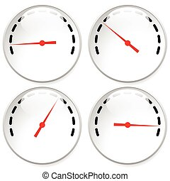 Dial, meter templates with red need and units set at 4...