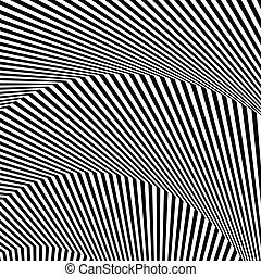 Wavy, zigzag lines, lines with distortion, crease Monochrome...