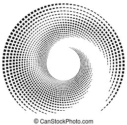 Inward spiral of rectangles abstract geometric design...