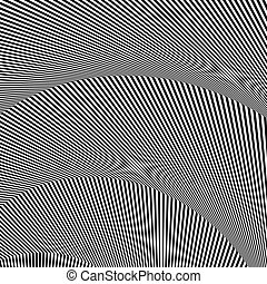 Wavy, zigzag lines, lines with distortion, crease....