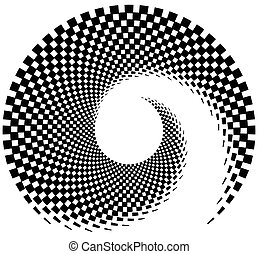 Inward spiral of rectangles. abstract geometric design element.