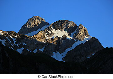 Mt Altmann just before sunset - High mountain of the...