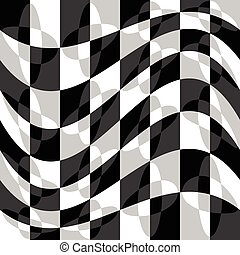 Geometric pattern with ripple, wavy distortion, warp effect...