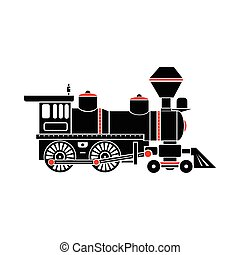 Locomotive icon, simple style