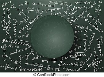 chalkboard formula math - illustration of blank chalkboard...