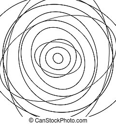 Concentric circles pattern Abstract monochrome-geometric...