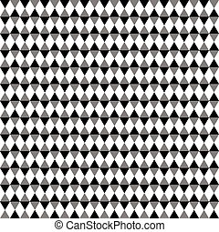 Repeatable contrasty geometric pattern. Mosaic of triangles...