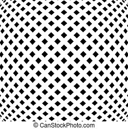 Grid, mesh pattern with distortion Abstract geometric...