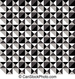 Seamlessly repeatable black and white mosaic pattern...
