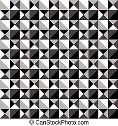 Seamlessly repeatable black and white mosaic pattern....