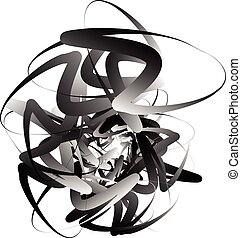 Random squiggly, curvy lines, abstract monochrome...