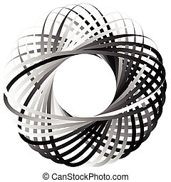 Random circular element Abstract monochrome graphic on white...