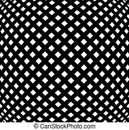 Grid, mesh pattern with distortion. Abstract geometric...