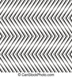 Zigzag, corrugated, serrated lines. Dynamic, irregular...