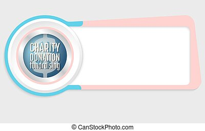 Vector abstract box for your text and the words donation;...