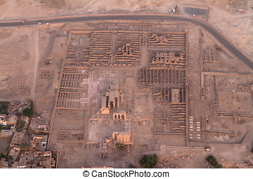 tempel, av, Aswan, In, egypten