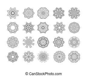 Circle vector ornament frame