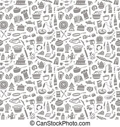 cookery seamless background - cookery seamless pattern with...