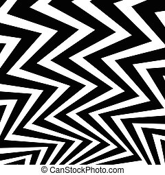 Wavy, waving - zigzag radial lines Abstract monochrome...