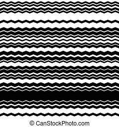 Wavy, zig-zag horizontal parallel lines Abstract monochrome...