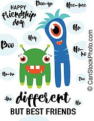 Vector illustration of cool modern happy friendship day...