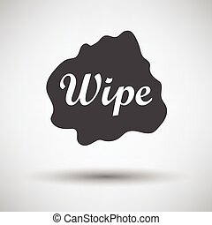 Wipe cloth icon on gray background, round shadow Vector...