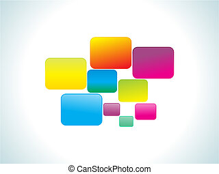 abstract colorful rainbow rectangles vector illustration