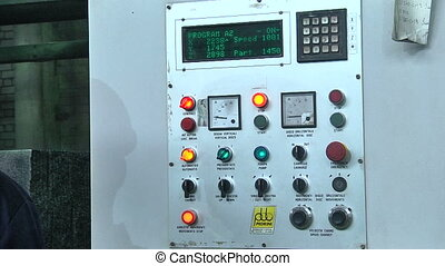 Remote control in production - The control panel with...