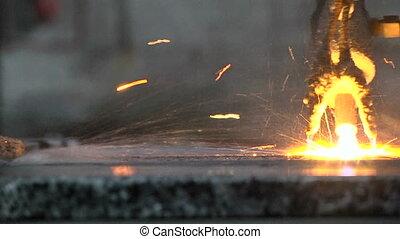 Processing of granite slabs fire - Processing of granite...