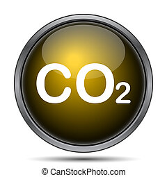CO2 icon Internet button on white background