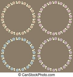 Beautiful floral frames collection