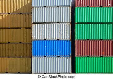 Cargo container - Colorful cargo container in a harbor
