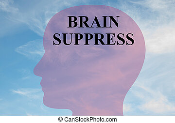 Brain Suppress concept - Render illustration of BRAIN...