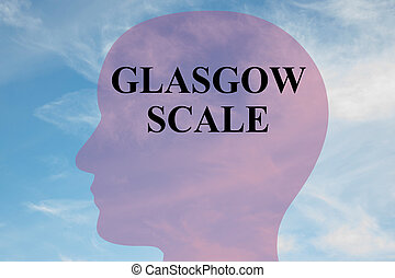 Glasgow Scale mental concept - Render illustration of...