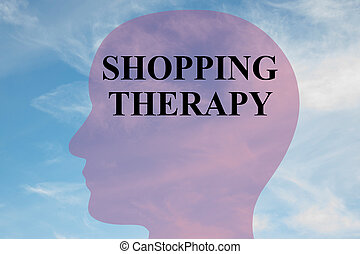 Shopping Therapy mental concept - Render illustration of...