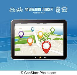 Navigation Concept Vector - Navigation Concept Transport on...