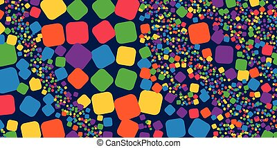 Square rainbow colorful geometrical abstract background.
