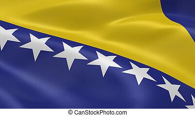 bosnisch, Fahne,  Wind