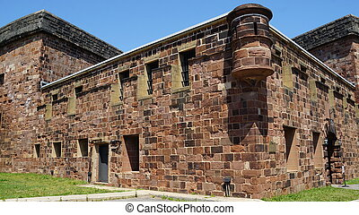Castle Williams on Governors Island in New York City