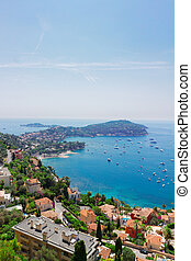 cote dAzur, France - landscape of riviera bay and turquiose...