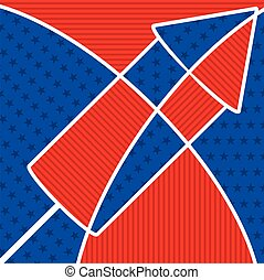 Bright abstract 4th of July cracker in vector format.