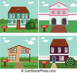 Real estate on sale House, cottage, townhouse, sweet home...
