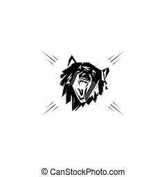Emblem, symbol, logotype, sign, sticker, poster, bear, dog,...