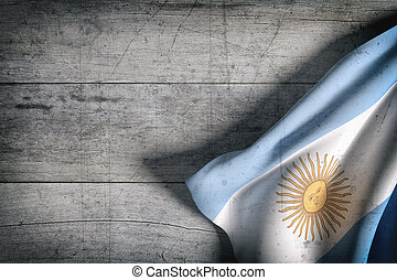 Argentine Republic flag waving - 3d rendering of Argentine...
