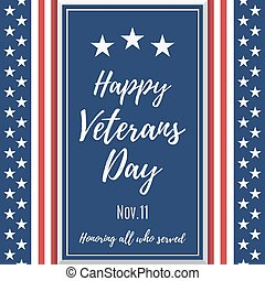 Happy Veterans Day background Poster or brochure template...