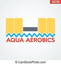 Symbol of Aqua Aerobics and Aqua Fitness Vector illustration...