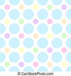 Pastel Polka Dots - An illustration of pastel polka dots