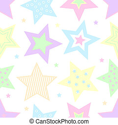 Pastel Stars - A colorful background illustration of pastel...