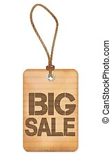 Big Sale Paper Old Label Vector Illustration