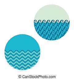 wave in circle set
